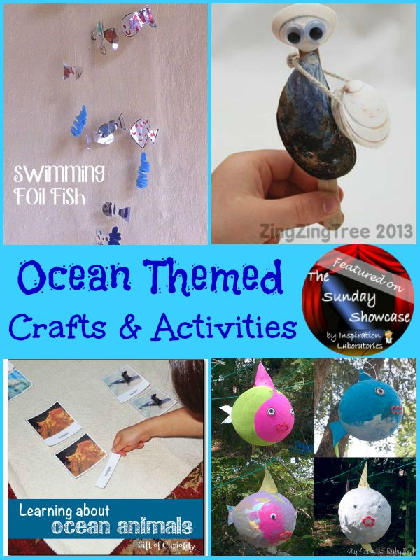 Ocean Themed Crafts & Activities Featured on the Sunday Showcase at Inspiration Laboratories