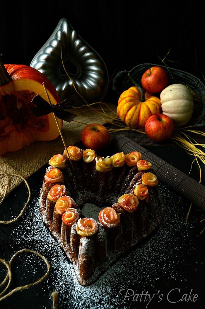Bundt cake de calabaza y manzana sin lácteos - Dairy free pumpkin and apple bundt cake - English recipe included