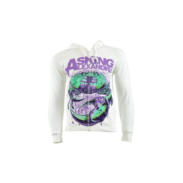 Asking Alexandria Crab hoodie - band hoodies - AA merchandise - hoody... ❤ liked on Polyvore