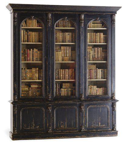 Victorian Bookcase, Old Black Paint - Ralph Lauren Home - Brands | One Kings Lane