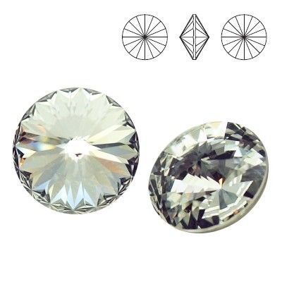 1122 Rivoli SS39 Crystal F 2pcs  Dimensions: diameter 8,16-8,41 mm Colour: Crystal F 1 package = 2 pieces