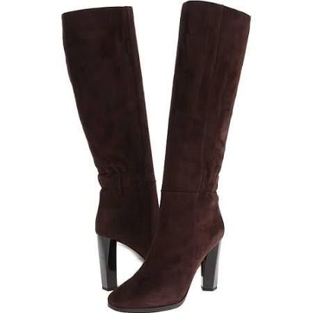 Diane von Furstenberg Pagri Women's Pull-on Boots Dark Mahagony Suede