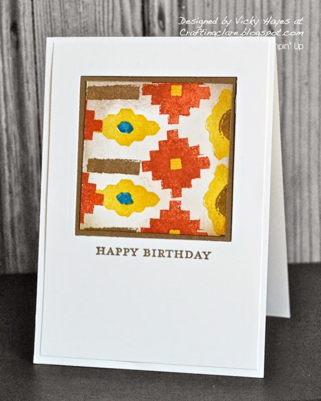 Love this card made with the Eye-Catching Ikat stamp set.