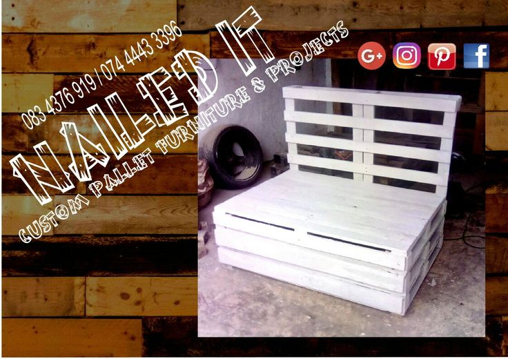 1 down 3 to go. Going to make a very nice corner set with matching table. Contact us for more info: Renier / Michael at 0834376919 / 0744443396 or naileditpallets@gmail.com. #naileditpallets #palletfurniture #palletlivingroomset