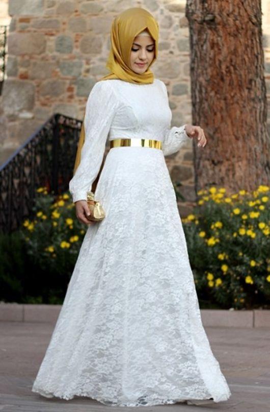 Beyaz tesettür abiye #hijab
