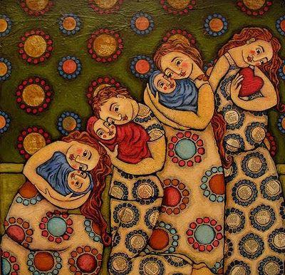Artist:  Julie Ann Bowden  LA CRIANZA CON APEGO: Attachment parenting | el arte de criar