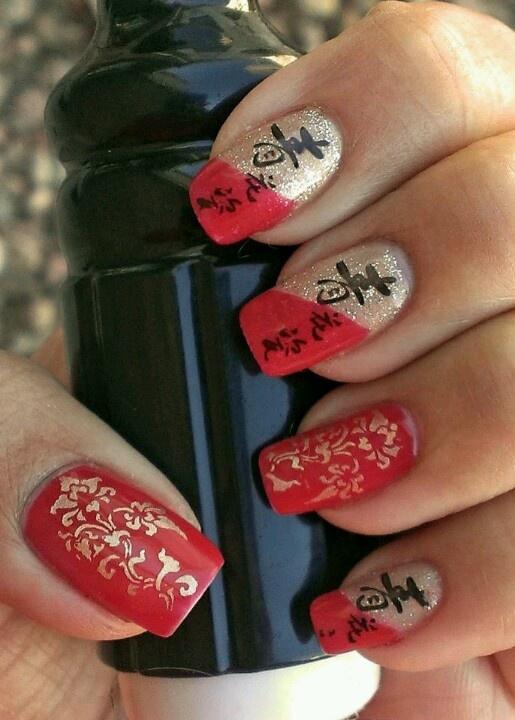 Chinese New Year Nails Holiday Nails New Year S Nails New Years Nail Art