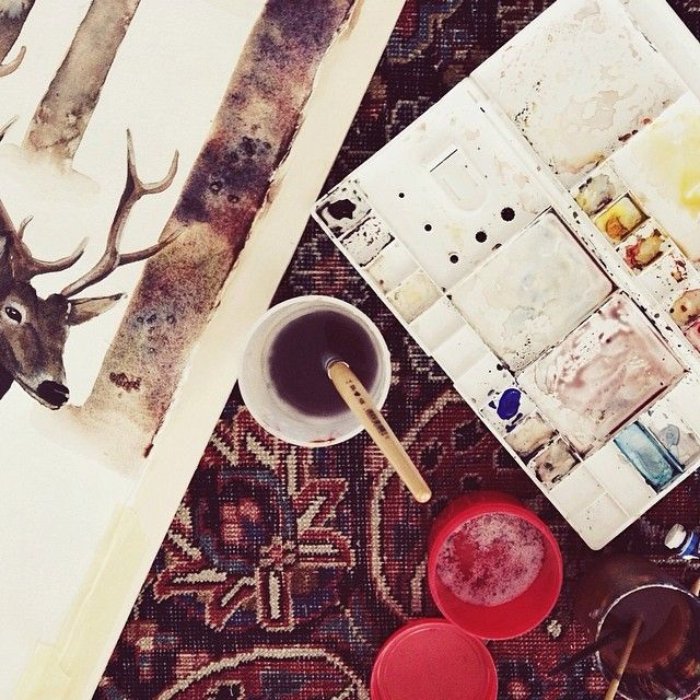 Venerdì mattina 🎨✏️ come giovedì, mercoledì, martedì e lunedì #thehoneyboat #workinprogress #watercolour #instapic #instagram alessandranardotto.wordpress.com
