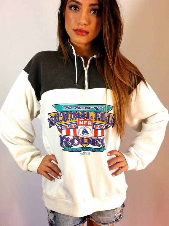 Vintage 1994 NATIONAL FINALS RODEO Sweatshirt/Las by ReDoneByShari