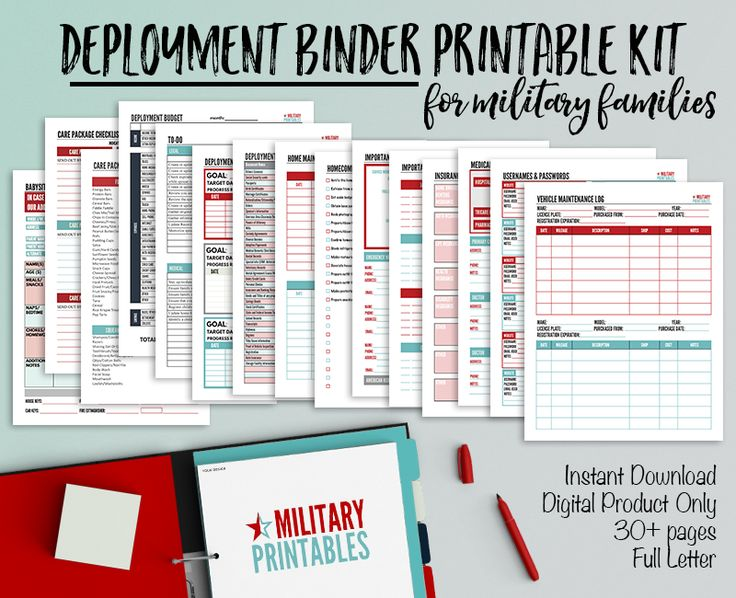 Create a Deployment Binder: Printable Checklists for Military Families
