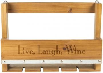 Personalized Rustic Wine Rack - Wall Wine Rack - Wine Storage Racks - Hanging Wine Rack - Wine Glass Rack | HomeDecorators.com