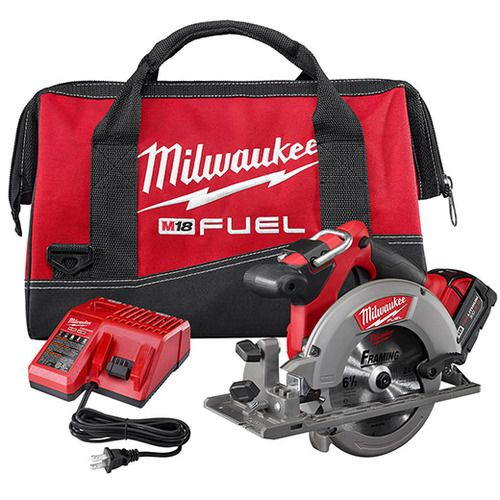 "Milwaukee 2730-21 M18 Fuel 18V 6-1/2"""" Cordless Circular Saw Kit"