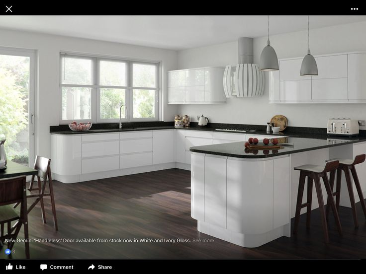 24 best White Kitchens images on Pinterest   Contemporary unit ...