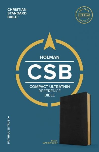 Holy Bible: Csb Compact Ultrathin Reference Bible, Leathertouch