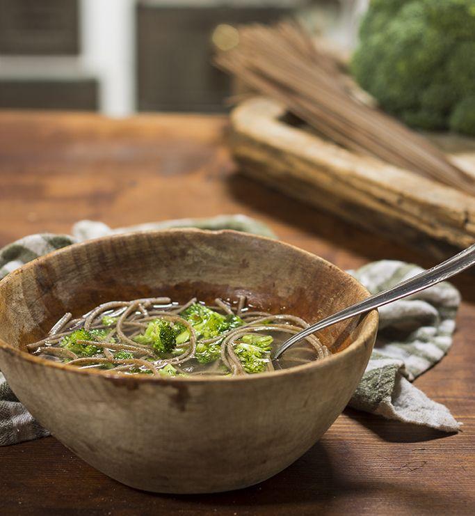 buckwheat noodles in broth! #GlutenFree #SenzaGlutine