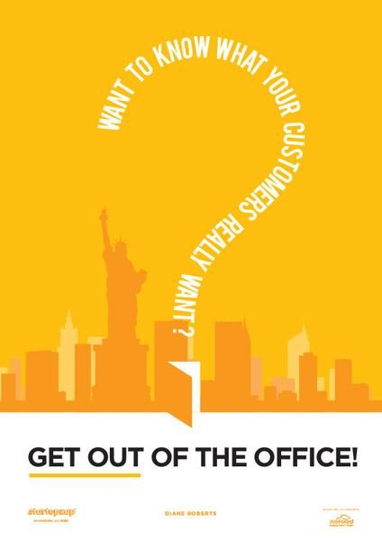 Get Out Of The Office Startup Poster Motivational Art