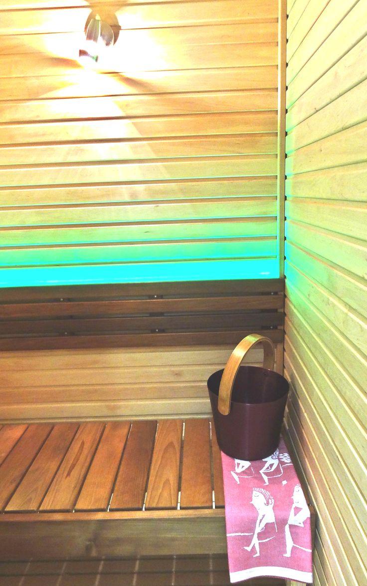 Colourful sauna