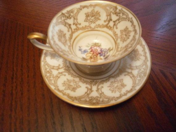 Floral Bavaria Tirschenreuth Germany Tea Cup by catherinefarrens, $21.99
