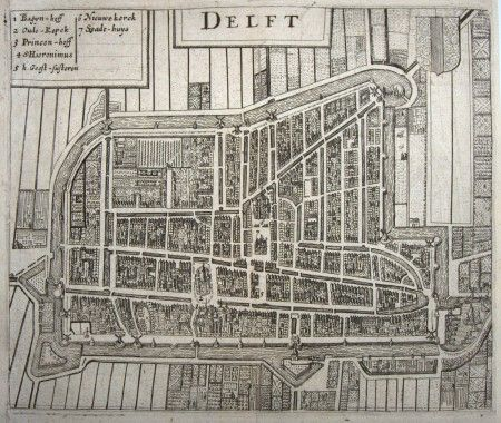 Map from Delft in 1633