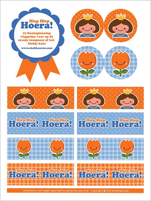 Gratis koninginnedag download op mijn blog (www.shelikescute.com)