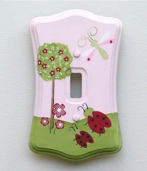 Ladybugs And Dragonflies Switch Plate & Outlet (Several Sizes Available): Switch Plates, Ladybugs Galore, Kids, Craft Ideas