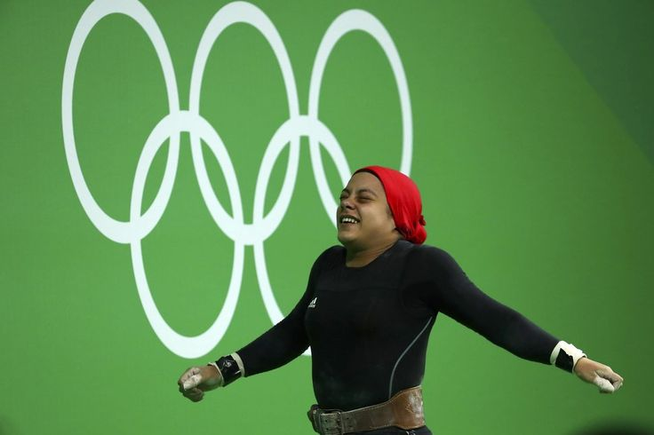 She's also the first Egyptian woman to stand on an Olympic Podium.
