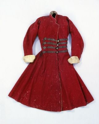 Polish coat, 1600s, wool, silk and brocade, owned by Christina of Sweden (1626-1689). At the Royal Armouries, Sweden.