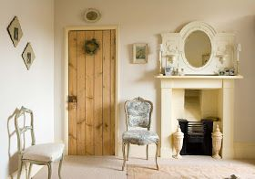 A warm, cream white. Not at all modern. Farrow and Ball New White