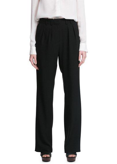 Струящиеся брюки-палаццо