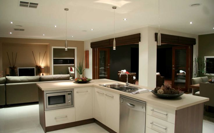 Metricon kitchen love the s s lights home decor for Metricon kitchen designs