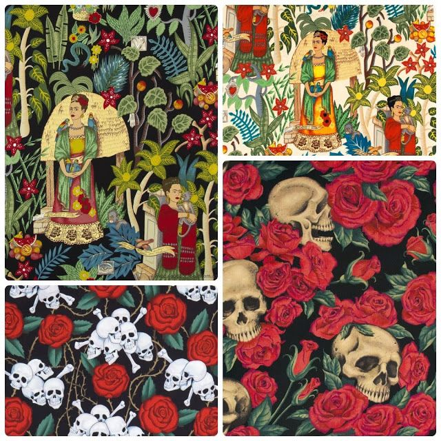 New in Store - January 19 Frida's Garden, Resting in Roses and Skulls by Alexander Henry