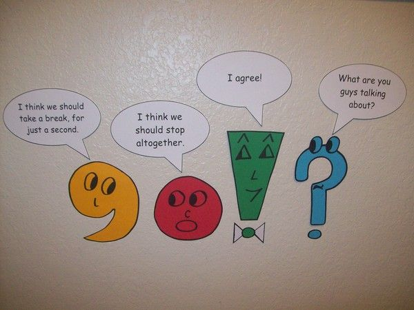 This is a cute idea to show students the different punctuation mark uses. I like how animated they are and that they explain their purposes. I believe this would be very helpful for students to see around the classroom, especially during writing workshops.