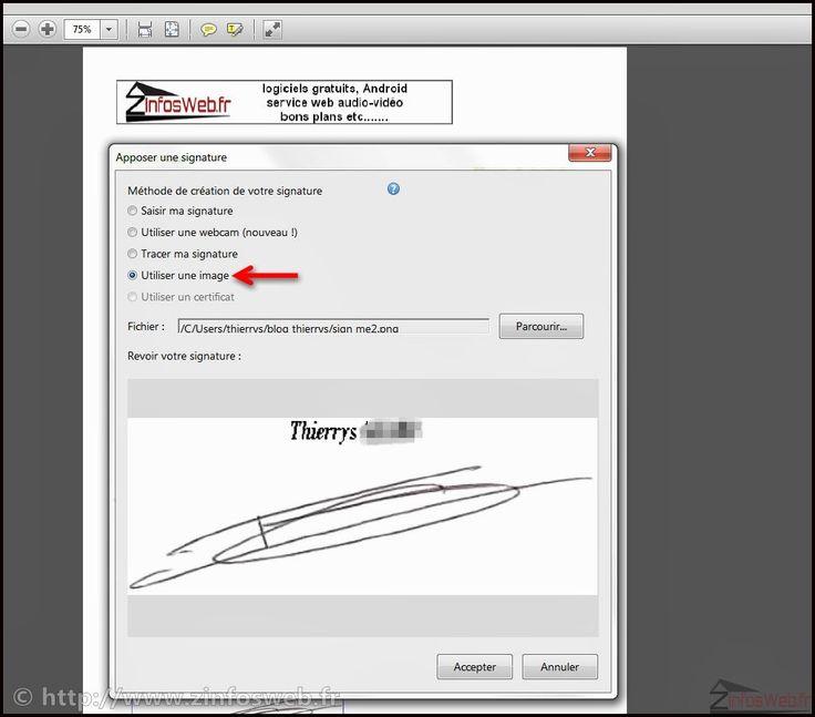 apposer sa signature sur un PDF via acrobat reader