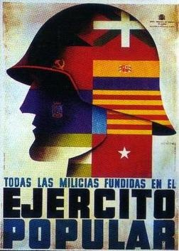 Poster of the Republican Peoples Army during the Spanish Civil War.
