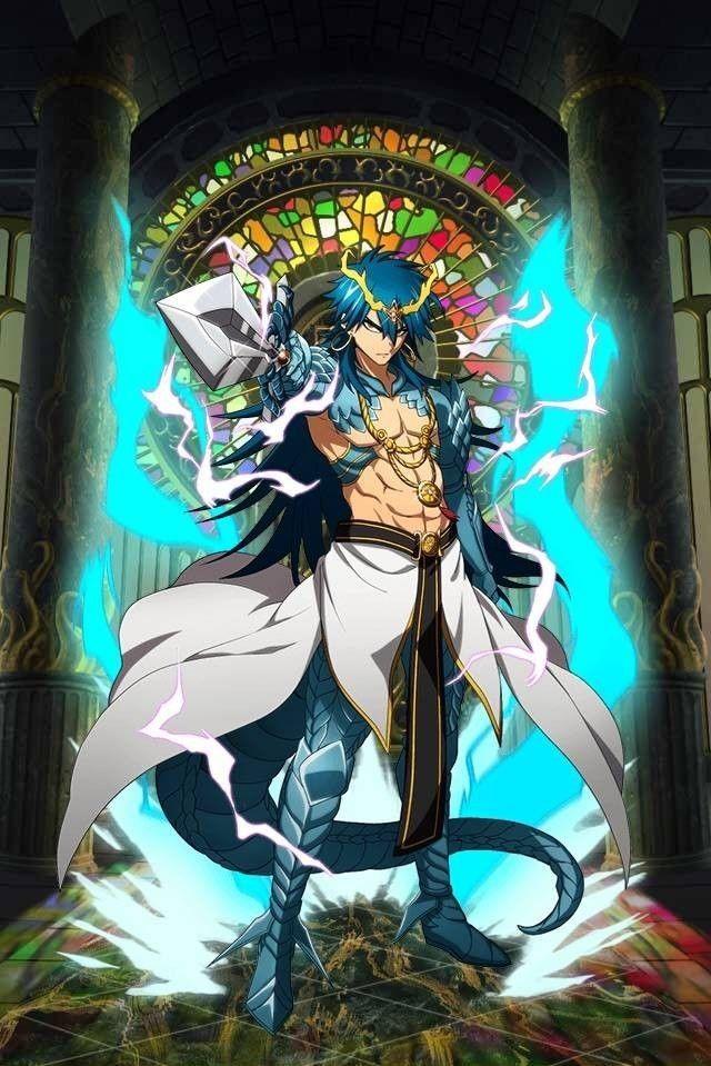 Sinbad Djinn Equip Baal Anime and Manga Sinbad magi