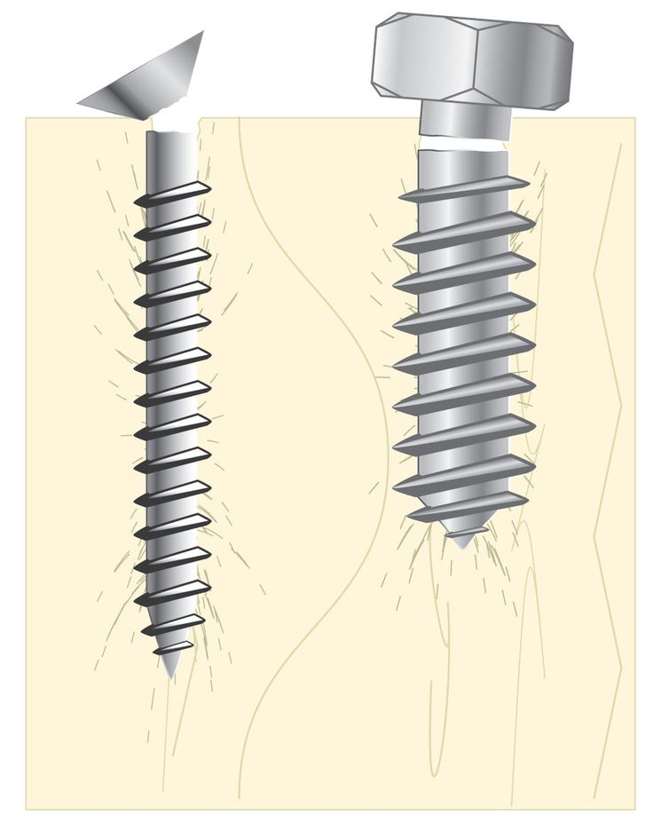 Removing Broken Screws and Lag Bolts: a list of methods to use depending on the situation.