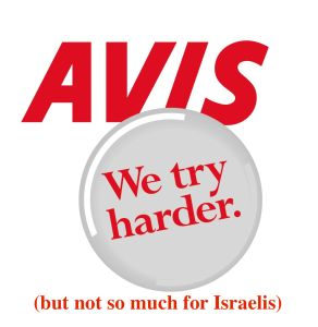 Shocker: Avis Car Rental Bars Israeli Executive from Renting