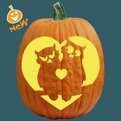 Owl love you forever cute pumpkin carving idea fall