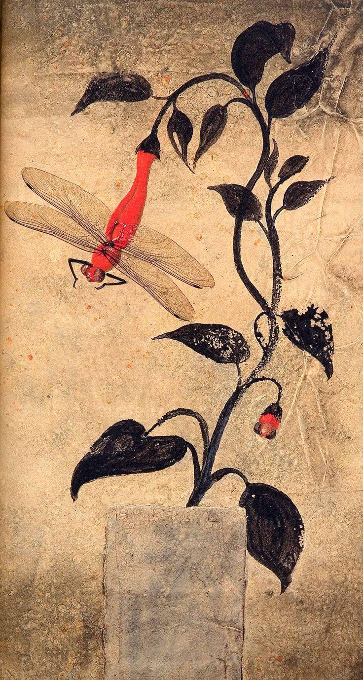 """illustration de Frederic Clement extraite de """"BASHÔ, le fou de poésie"""" - Ed. Albin Michel"""