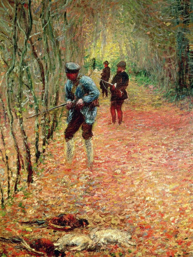 The Shoot Painting by Claude Monet