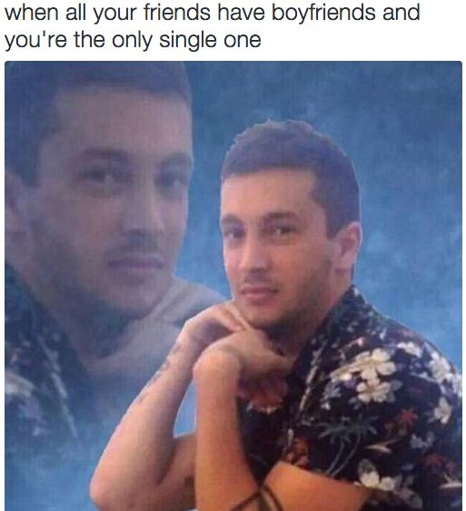 When you feel like the odd man (or woman) out among your friends: | 23 Pictures That Perfectly Describe The Struggle Of Being Single