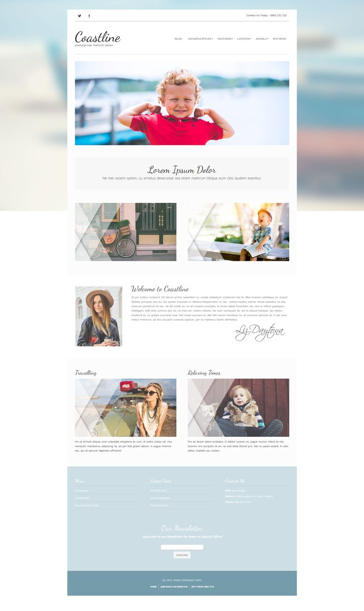 A bright refreshing #joomla #template #website #webdesign