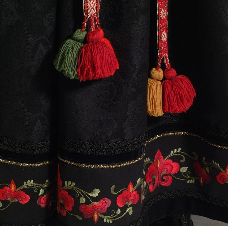 Embroidery and Ribbons on the Beltestakk from East Telemark County