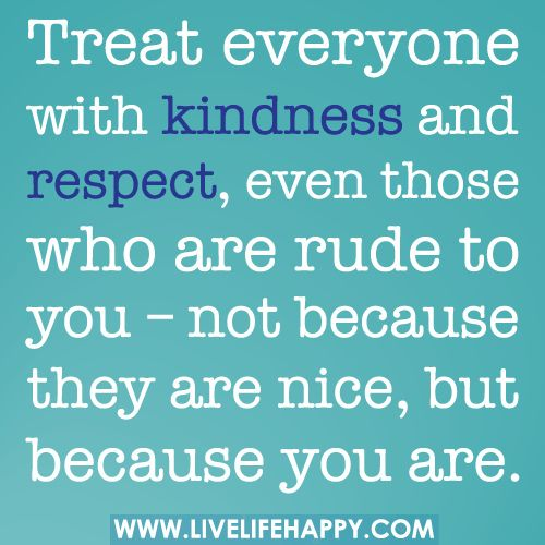 Treated with kindness essays