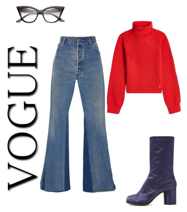 """Untitled #53"" by mariastoica on Polyvore featuring Maison Margiela, Versace and RE/DONE"