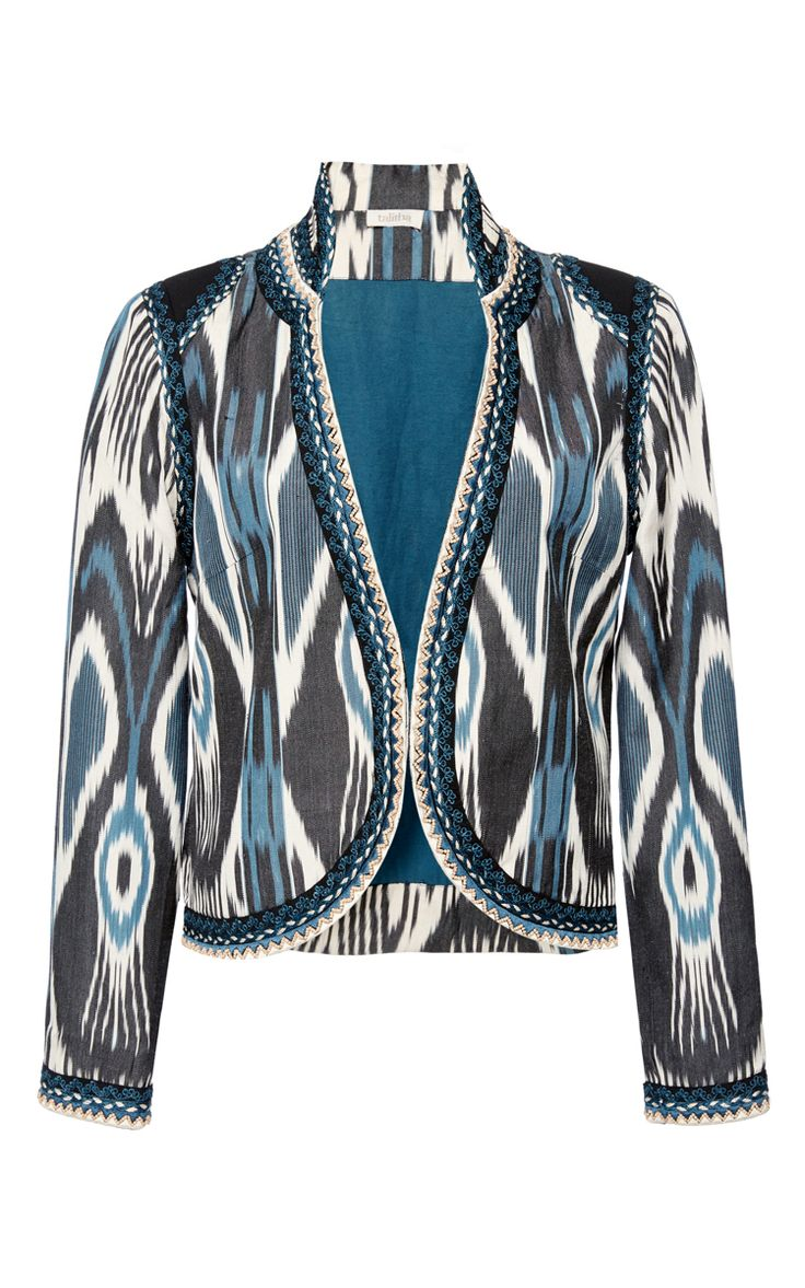 Ikat Fitted Jacket by TALITHA for Preorder on Moda Operandi