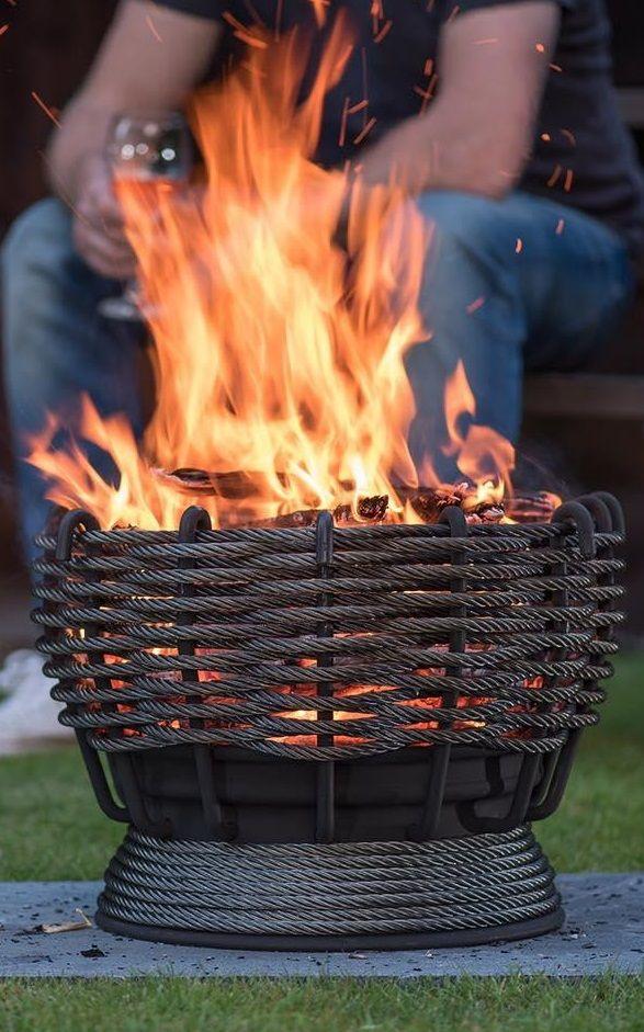Steel Wire Garden Firepit Fire Basket Fire Pit Garden Fire Pit