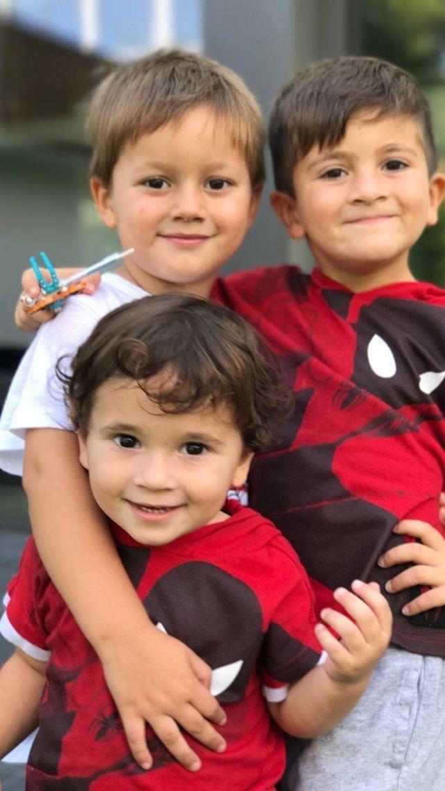 The three mini Messis. Thiago, Mateo, and Ciro | Lionel ...