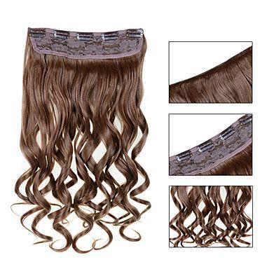 5 clips ondulado loiro morango (# 27) grampo de cabelo sintético em extensões de cabelo para senhoras mais cores disponíveis de 4210122 2017 por R$33,66