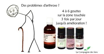 synergie huiles essentielles arthrose